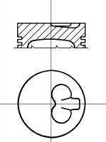 8712400800 Nural Поршень в комплекте на 1 цилиндр, 3-й ремонт (+0,60)