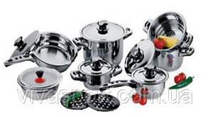 Набор посуды 16 предметов, набор кастрюль