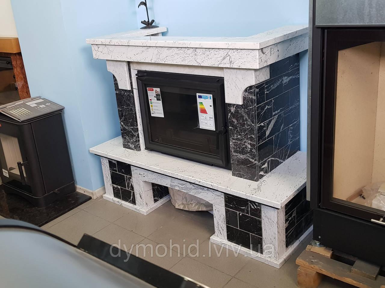 Портал для каміну Bianko Carrara+Gridio Carniko Аційна ціна!