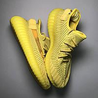 Женские кроссовки Adidas Yeezy 350 yellow желтые