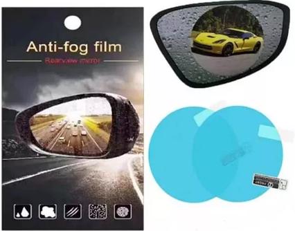 Пленка Anti-fog film 95*95 мм, анти-дождь для зеркал авто | бесцветная защитная плёнка от воды бликов и грязи, фото 2