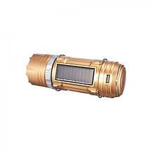 Светодиодный фонарь лампа для кемпинга с солнечной панелью 9688, фото 2