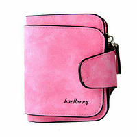 Женский замшевый кошелек Baellerry Forever N 2346 | клатч | портмоне розовый