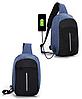 Сумка антивор в стиле Bobby mini. Рюкзак-антивор с USB портом Bobby Backpack, фото 4