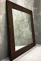 "Зеркало настенное ""Lot Porto"" 90х80х4см. Натуральное дерево, любой размер."