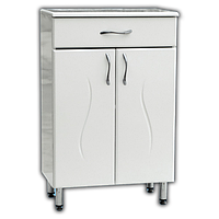 Комод для ванной белый К-501 фрез (50-100 см)