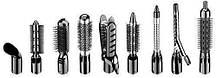 Воздушный стайлер для волос 10 в 1 GEMEI GM-4835 | Фен щетка | утюжок | плойка, фото 2