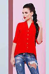 Блуза шифоновая Michelle BZ-1456 (5 цветов), шифоновая блузка на лето
