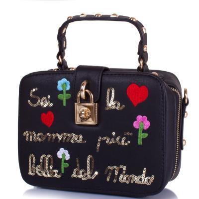 Саквояж (ридикюль) Amelie Galanti Женская сумка из качественного кожезаменителя AMELIE GALANTI (АМЕЛИ ГАЛАНТИ) A981005-black