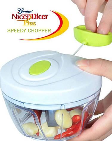 Ручной кухонный измельчитель Multifunctional High Speedy Chopper | овощерезка | блендер шинковка, фото 2