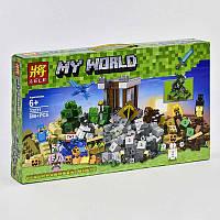 "Конструктор LELE 33231 Minecraft ""Падение башни""  (Аналог LEGO Minecraft 21135) 800 деталей"