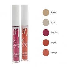Жидкая губная помада блеск Kylie Sugar, 5 штук в наборе Кайли, фото 3