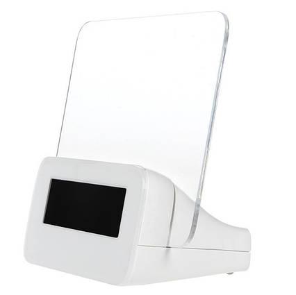 Светящийся LED будильник с доской для записи «Светящаяся записка» с маркером | Настольные цифровые лед часы, фото 2