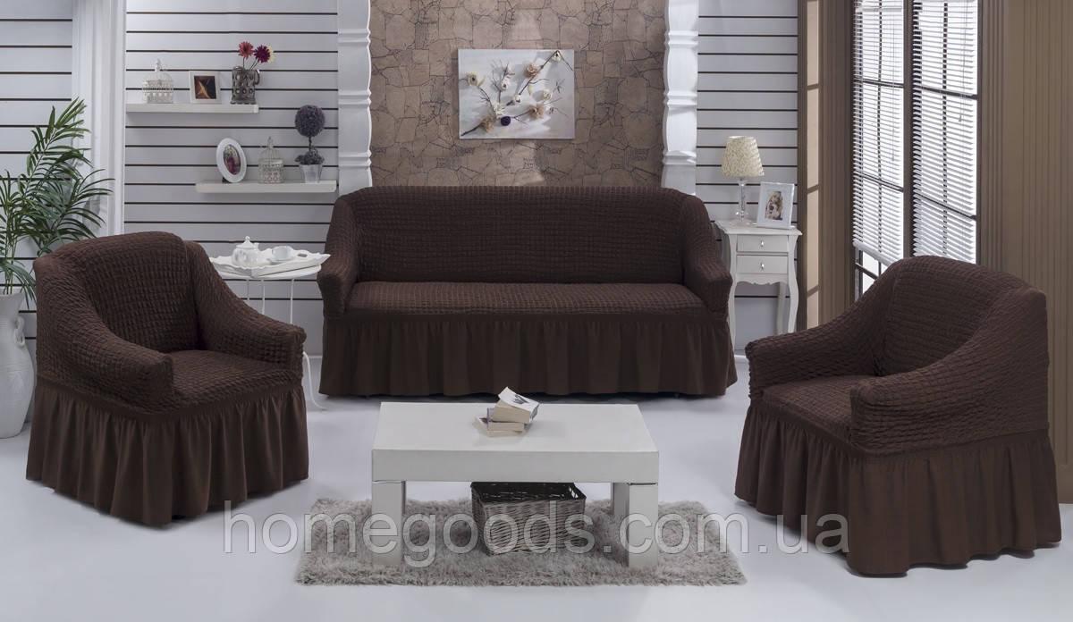 Чохол на тримісний диван і два крісла