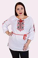 Вишиванка жіноча 012046 льон, вишиванка жіноча великого розміру, етнічний одяг, дропшиппинг