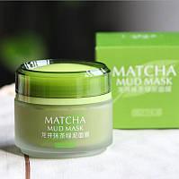 Маска для лица очищающая глина с бобами Мунг и матча Laikou Matcha Mud Mask