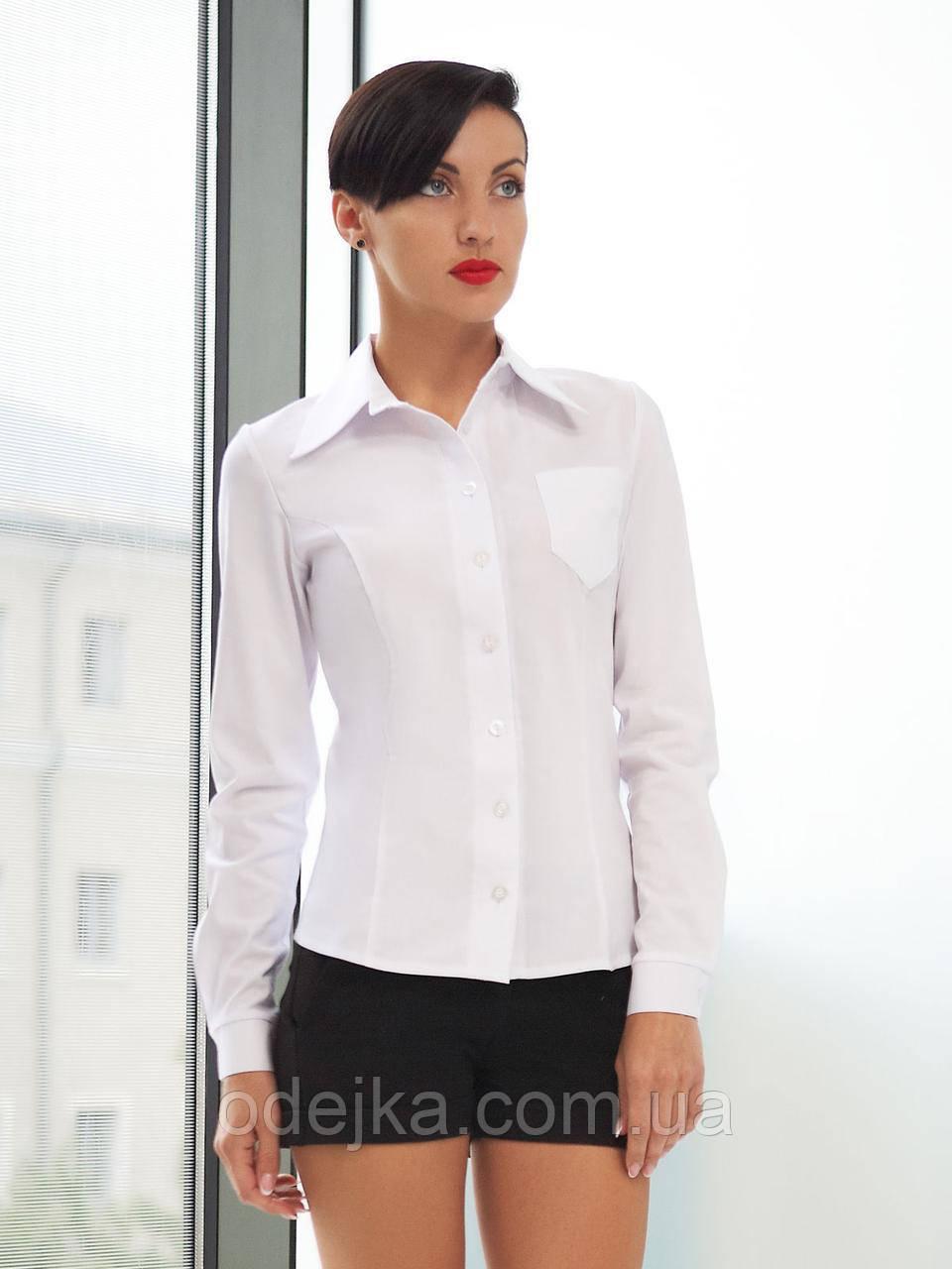 Рубашка женская Марта д/р, женская блуза белая