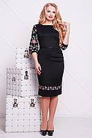 Платье Андора Цветы-орнамент-Б д/р, вишите плаття,  платье батал, дропшиппинг