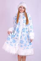 Карнавальный костюм Снегурочки для взрослого белая