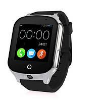 Умные смарт-часы Smart GPS Samtra A19 с черным силиконовым ремешком