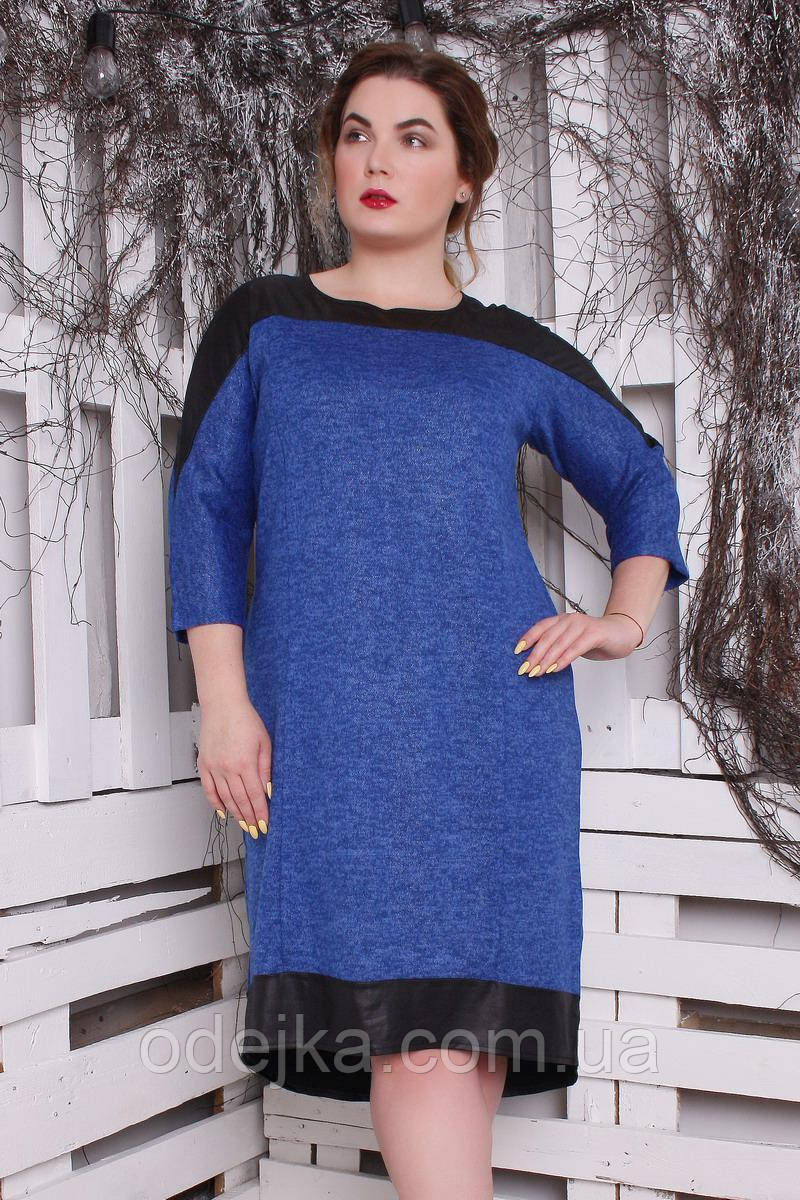 Платье большого размера Ангора Люрекс, (3 цвета)