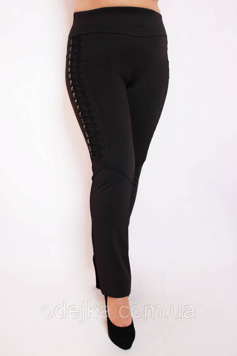 Леггинсы большого размера №237 флис, леггинсы брюки, черные брюки женские