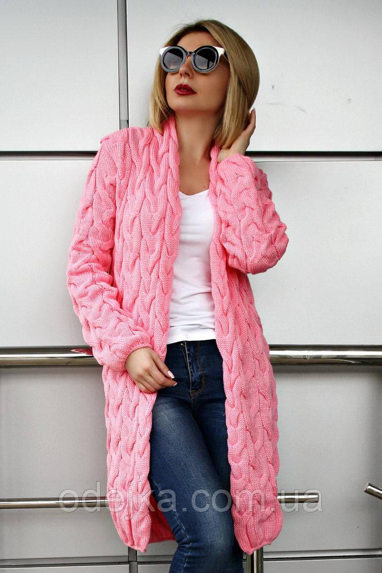 Кардиган вязанный короткий Коса Лало NEW color розовый
