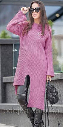 Туника свитер Мира, (7цв), туника асимметричная, трикотажная туника