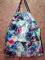 ПРИНТ cумка рюкзак-мешок  для обуви(только ОПТ ), фото 1
