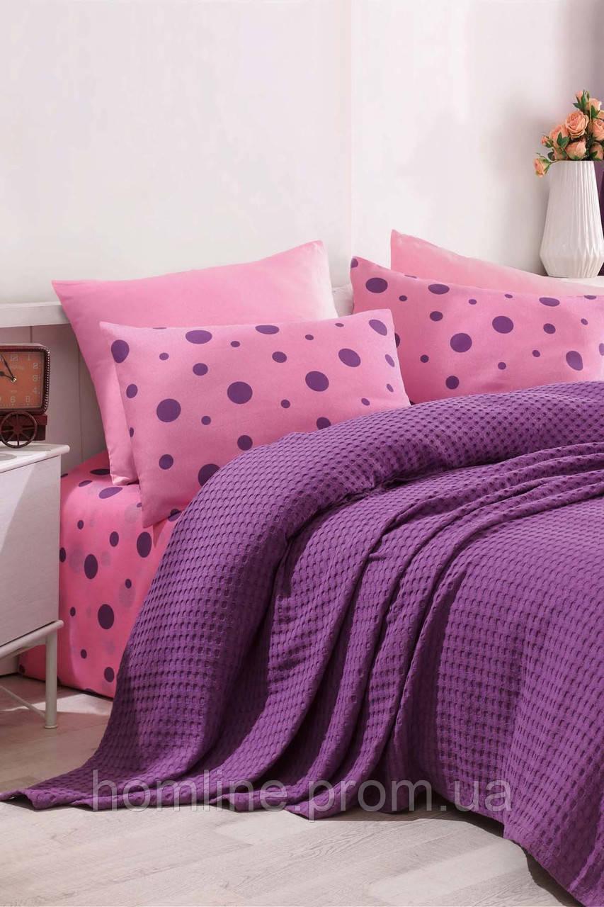 Постельное белье Eponj Home Paint Pike PuanPari murdum фиолетовый евро размер