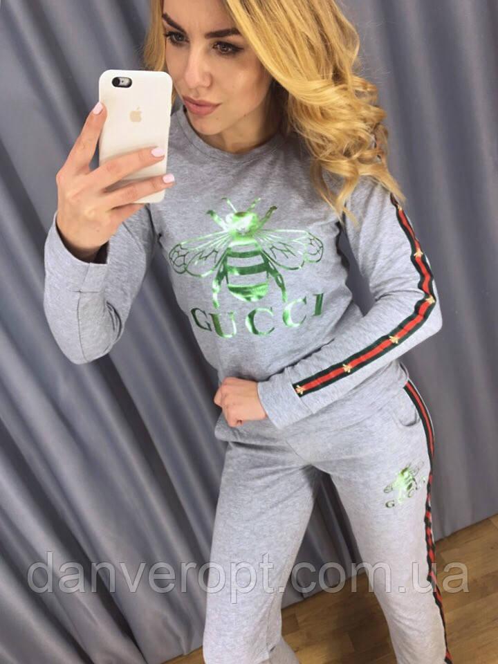 Костюм женский стильный модный GUCCI размер 42-48, купить оптом со склада 7км Одесса