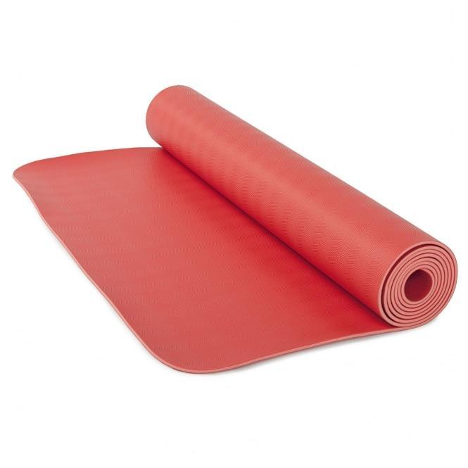 Коврик для йоги ЭКО ПРО (ECOPRO) красный