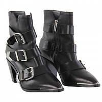 Ботинки Женские Black Three размер 38 стелька 25 см Натуральная кожа (SW-0082)