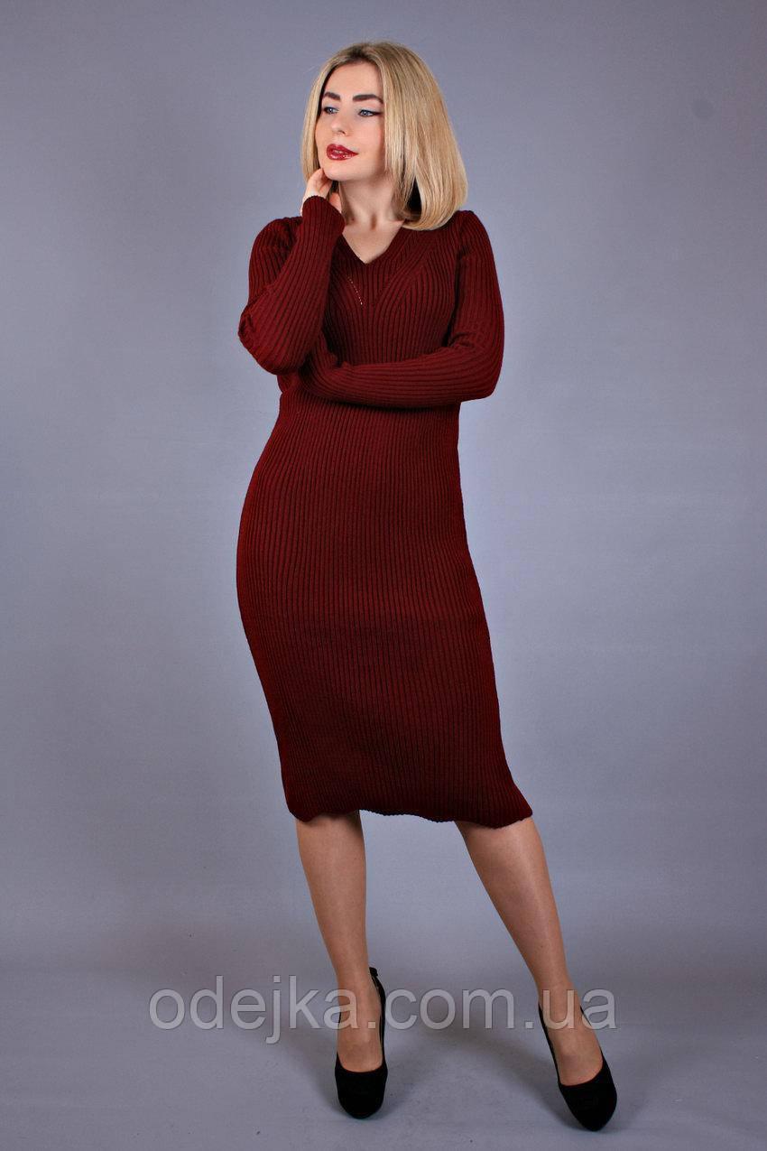 Платье трикотажное Анюта (3цв), платье длинное, платье вязанное
