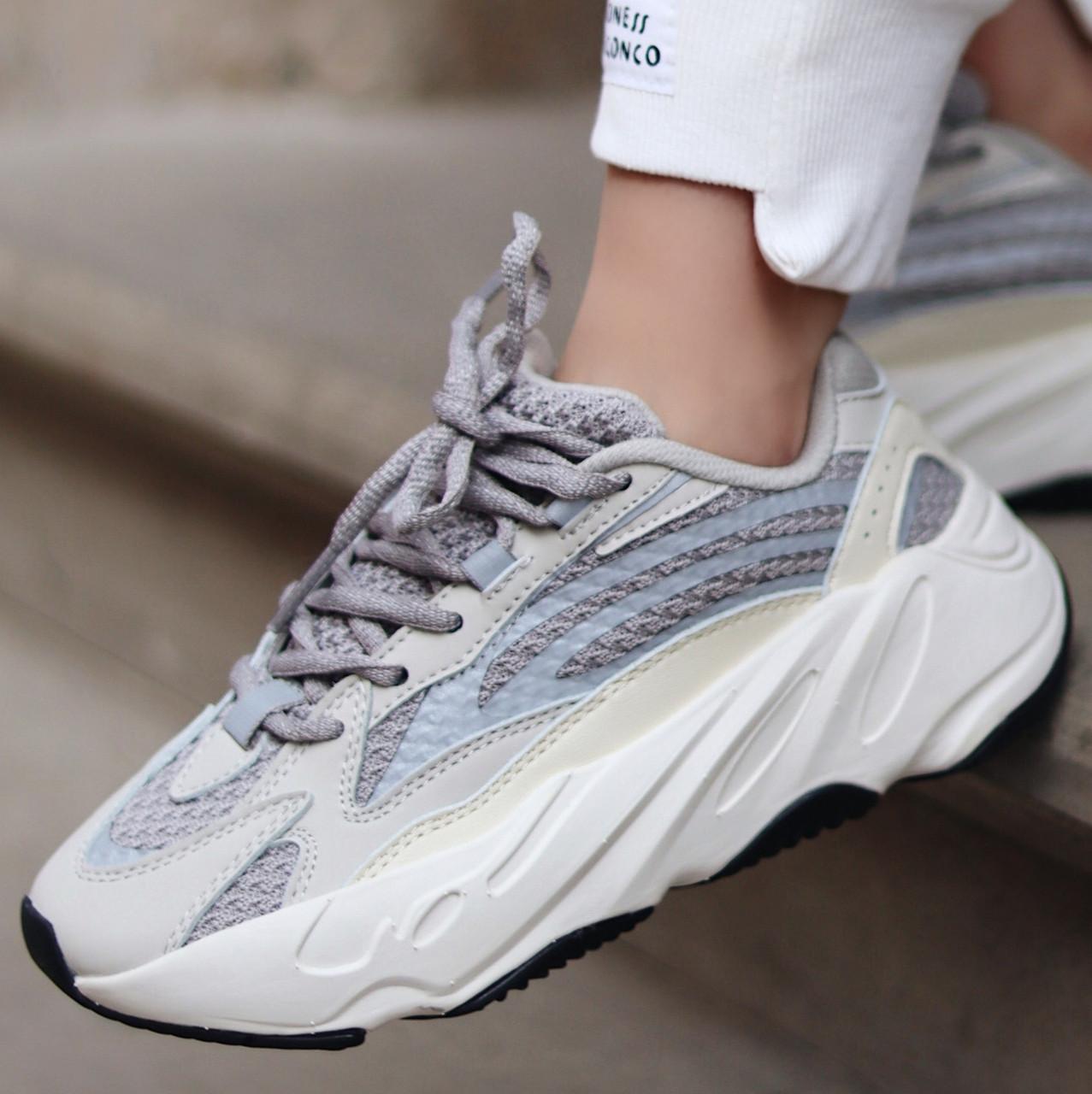 Женские и мужские кроссовки Adidas Yeezy Wave Runner Boost 700 V2 Static