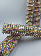 Резинка силиконовая спиралька радуга