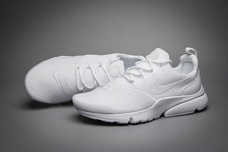 Nike Air Presto Fly 908018-101 All Triple White Оригинальные кроссовки больших размеров