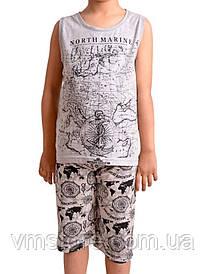 Пижама детская для мальчика майка+ шорты (3 комплекта ростовка)