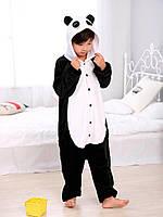 Детский кигуруми панда черно-белый ktai0046