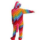 Кигуруми разноцветный единорог чешуя пижама krd0063, фото 3