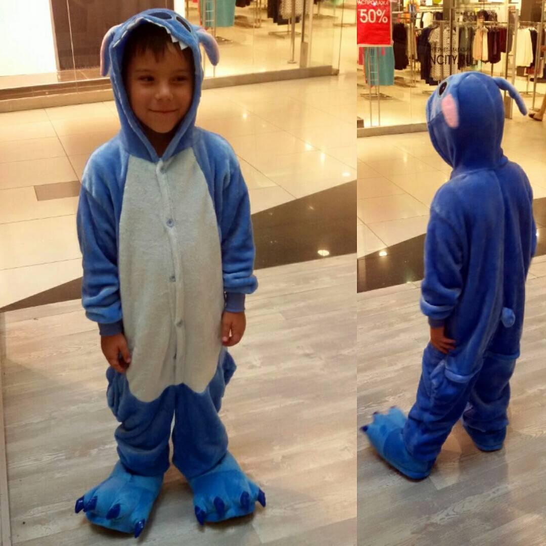 Детский кигуруми стич голубой krd0045