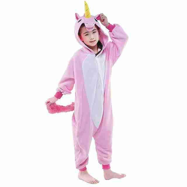 Детский кигуруми розовый единорог ktai0037