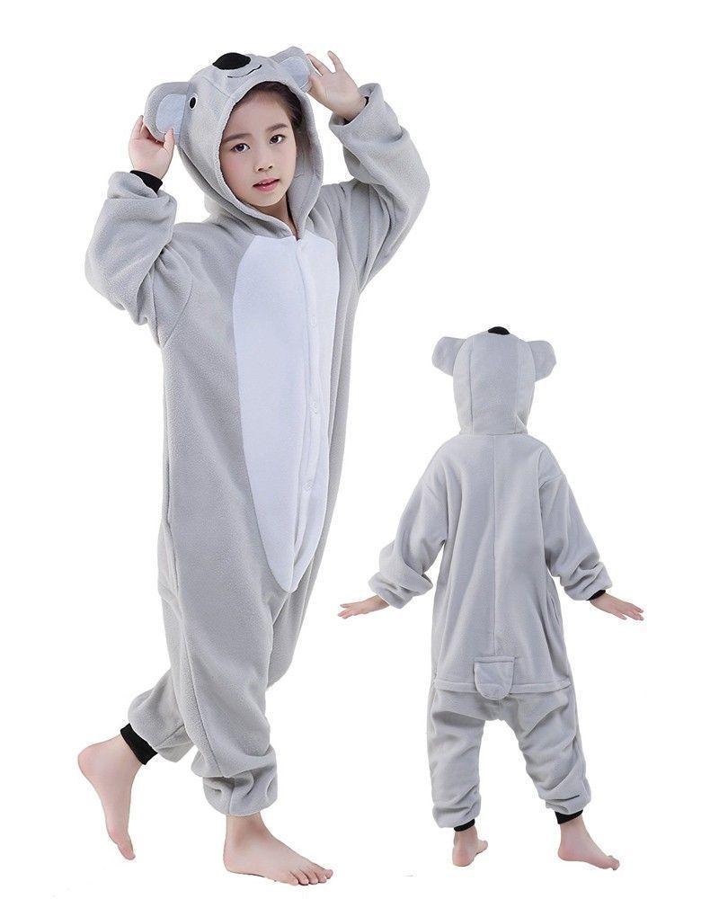 Детский кигуруми коала серая ktai0035