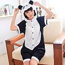 Пижама кигуруми панда для детей с коротким рукавом krd0092, фото 2