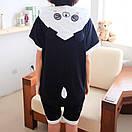 Пижама кигуруми панда для детей с коротким рукавом krd0092, фото 3