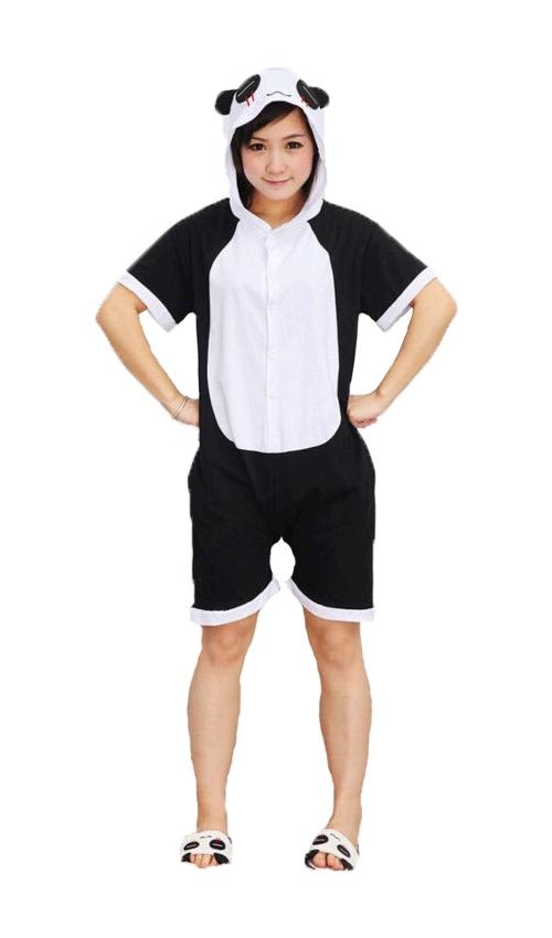 Пижама кигуруми панда для детей с коротким рукавом krd0092