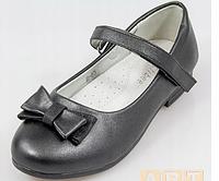 Туфли черного цвета с бантиком для девочки clibee 34 - 22.0 см, фото 1