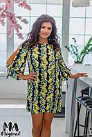 Платье большого размера / креп / Украина 7-2-216, фото 1