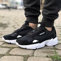 Женские кроссовки Adidas Falcon Black/White, фото 2