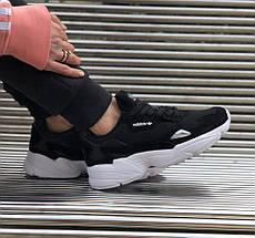 Женские кроссовки Adidas Falcon Black/White, фото 3